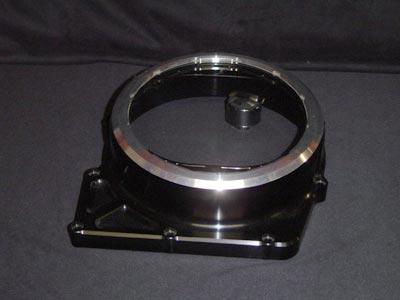 Clutch cover black/silver look through