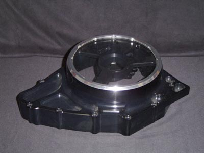 Alternator cover black/silver look through