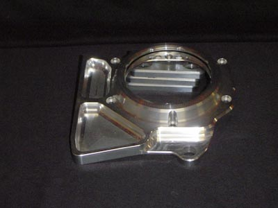 Shaft drive linkage cover silver look through