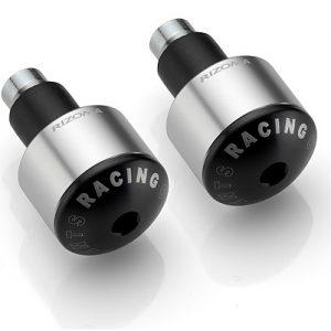 Handlebar plugs silver short