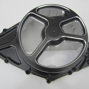 Alternator Cover Brabus Bi-Color black/silver