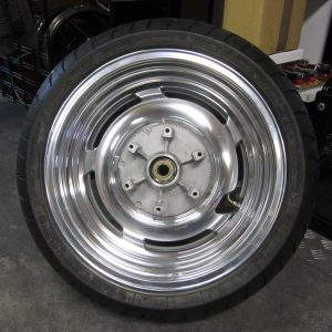 Rear wheel Deget included tyre, alu