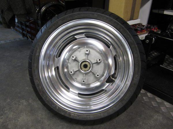 Rear wheel Deget included tyre, alu